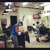 Photo taken at Mojo Barbershop by Marian L. on 3/14/2012