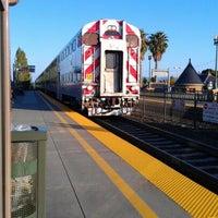 Photo taken at San Carlos Caltrain Station by Breyana S. on 5/7/2012