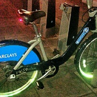 Photo taken at TFL Santander Cycle Hire by Arlen V. on 3/23/2012