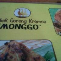 Photo taken at Bebek Goreng Kremes Monggo by Ilham A. on 6/1/2011
