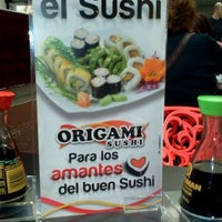 Photo taken at Origami Sushi by Jegriker A. on 1/7/2012