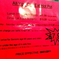 Photo taken at Oceanview Buffet Hot Pot by Emily L. on 9/2/2011