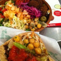 Photo taken at Maoz Vegetarian by corniolo . on 9/8/2012