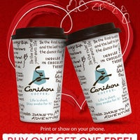 Photo taken at Caribou Coffee by Coley B. on 2/14/2012