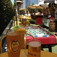 Photo taken at The Biergarten at The Standard, Downtown LA by Rhian M. on 7/6/2012