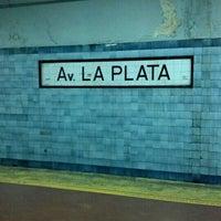Photo taken at Estacion Av. La Plata [Línea E] by Matuteen on 7/27/2012