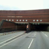Photo taken at Elbtunnel by Dennis K. on 6/10/2012