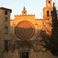 Photo taken at Monestir de Sant Cugat by Clara L. on 3/15/2012