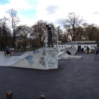 Photo taken at Clapham Skate Park by Marcelo A. on 4/11/2012