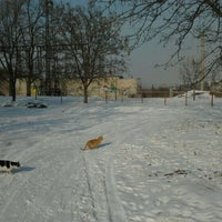 Photo taken at Стадион ДНУ by Татьяна Б. on 2/20/2012