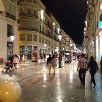 Photo taken at Marqués de Larios Street by Tony T. on 5/26/2012