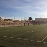 """Photo taken at Escuela Municipal de Rugby """"El Cantizal"""" by Jim S. on 2/25/2012"""