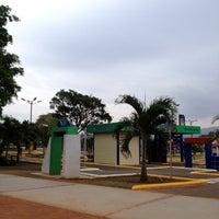 Photo taken at Parque Esmeralda by Francisco V. on 3/22/2012