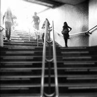 Photo taken at Metro Zócalo by Edgar G. on 8/26/2012