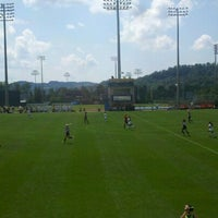 Photo taken at Dick Dlesk Soccer Stadium by Charlie C. on 8/19/2012