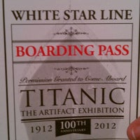 Photo taken at Titanic The Artifact Exhibition by Rachel H. on 6/24/2012