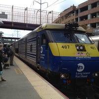 Photo taken at LIRR - Huntington Station by Nancy W. on 4/20/2012