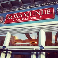 Photo taken at Rosamunde Sausage Grill by Yue T. on 6/2/2012