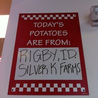 Photo taken at Five Guys by Devin B. on 4/1/2012