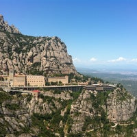 Photo taken at Monistrol de Montserrat by Maria V. on 7/28/2012