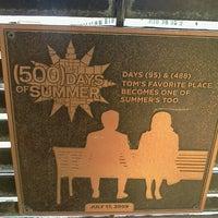 Photo taken at Tom Hansen's Bench (500 Days of Summer) by Merisenda B. on 8/19/2012