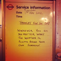 Photo taken at North Acton London Underground Station by Morena F. on 5/1/2012