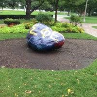 Photo taken at Boston University Greek Rock by Matt C. on 9/10/2012