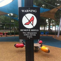 Photo taken at Lake Eola Playground by Jessica S. on 6/6/2012