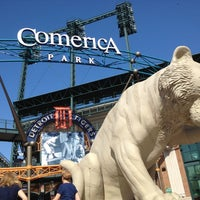 Photo taken at Comerica Park by Andrew H. on 5/18/2012