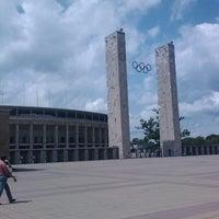 Photo taken at Olympiastadion by Michiel Z. on 6/8/2012