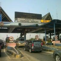 Photo taken at Gerbang Tol Karang Tengah by welliam s. on 7/31/2012