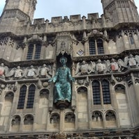 Photo taken at Canterbury Cathedral by Sabio C. on 4/11/2012