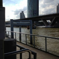 Photo taken at ท่าเรือสาทร (ตากสิน) Sathorn (Taksin) Pier CEN by Wanza Z. on 7/15/2012