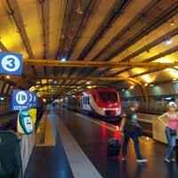 Photo taken at Fiumicino Aeroporto railway station (ZRR) by Johannes l. on 7/18/2012