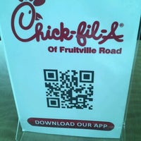Photo taken at Chick-fil-A Fruitville Road by Nathan S. on 6/21/2012
