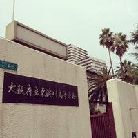 Photo taken at 大阪府立 東淀川高等学校 by なつこい on 7/20/2012