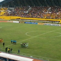 Photo taken at Stadion Gelora Sriwijaya (GSJ) by Nitha P. on 3/8/2012