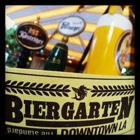 Photo taken at The Biergarten at The Standard, Downtown LA by onezerohero on 5/4/2012