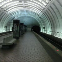 Photo taken at Woodley Park-Zoo/Adams Morgan Metro Station by Evan on 4/3/2012