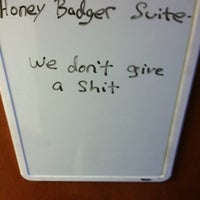 Photo taken at Honey Badger Suite at SU by Matt J. on 3/1/2012