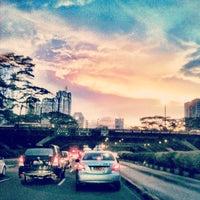 Photo taken at Jembatan Semanggi by Untung B. on 2/18/2012