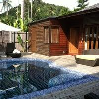 Photo taken at Gajapuri Resort and Spa Koh Chang by Joy S. on 4/21/2012