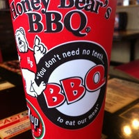 Photo taken at Honey Bear's BBQ by Blair S. on 3/18/2012