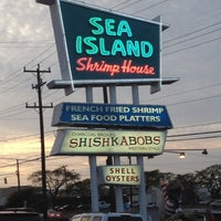 Photo taken at Sea Island Shrimp House by Kevin K. on 3/16/2012