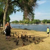 Photo taken at McHenry Riverwalk by Sabrina G. on 7/16/2012