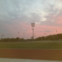 Photo taken at Coppin State Track by Brandie C. on 7/10/2012