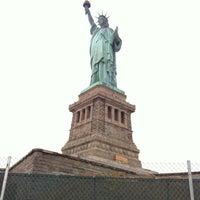 Photo taken at Liberty Island by Ravi M. on 3/25/2012