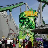 Photo taken at The Incredible Hulk Coaster by Sixto R. on 2/25/2012
