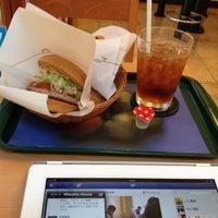 Photo taken at モスバーガー 靱本町店 by Shinri S. on 7/30/2012