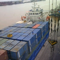 Photo taken at Terminal Peti Kemas Pelabuhan Pontianak by demi s. on 7/24/2012